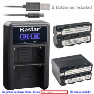 Replacement Battery LCD Dual Charger for Sony NP-F550 CCD-TRV68 CCD-TRV71 CCD-TRV715