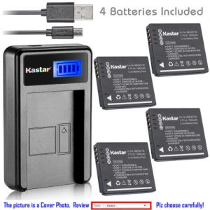 Replacement Battery LCD USB Charger for Panasonic DMW-BCF10 and Panasonic Lumix DMC-F2