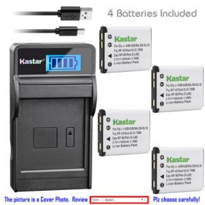 Replacement Battery LCD Charger for Casio NP-80 BC-80L and Casio Exilim EX-Z115 Camera