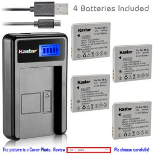 Replacement Battery LCD Charger for Canon NB-4L NB-4LH and Canon PowerShot SD430 SD450