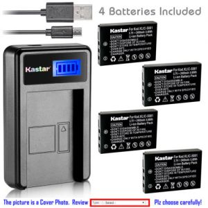 Replacement Battery LCD USB Charger for Sanyo DB-L50 and Sanyo Xacti DMX-FH11 Camera