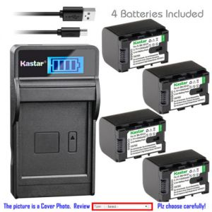 Replacement Battery LCD Charger for JVC BN-VG121 and JVC Everio GZ-E505 Everio GZ-E565