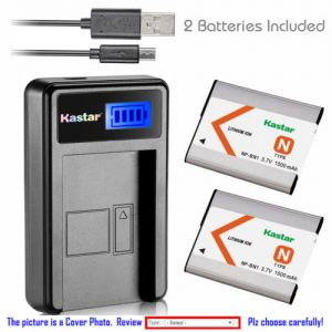 Replacement Battery LCD USB Charger for Sony NP-BN1 NPBN1 and Sony Cyber-shot DSC-W580