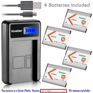 Replacement Battery LCD Charger for Sony NP-BN1 NPBN1 and Sony Cyber-shot DSC-W515PS