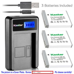 Replacement Battery LCD Charger for Canon NB-6L NB-6LH and Canon Digital IXUS 200 IS