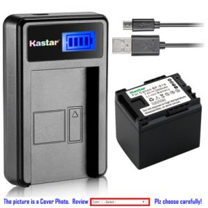 Replacement Battery LCD Charger for Canon BP-819 and Canon VIXIA HF M30, VIXIA HF M31