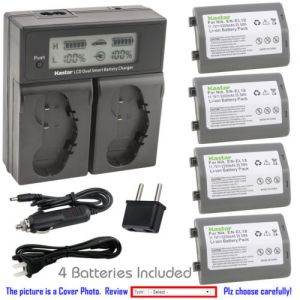 Replacement Battery LCD Dual Fast Charger for Nikon EN-EL18b and Nikon D5 Digital SLR