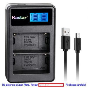 Replacement Battery LCD Dual Charger for Sony NP-FM50 and Sony GV-D1000 HDR-UX1 Camera