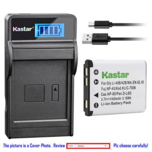 Replacement Battery LCD Charger for Casio NP-80 BC-81L and Casio Exilim EX-Z26 Camera