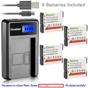 Replacement Battery LCD Charger for Casio NP-130 NP130 Casio Exilim EX-ZR1300 Camera