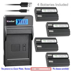 Replacement Battery LCD Charger for Nikon EN-EL1 MH-53 and Nikon Coolpix 5000 Camera