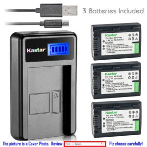 Replacement Battery LCD Charger for Sony NP-FH50 and Sony HDR-XR200 HDR-XR500 HDR-XR520