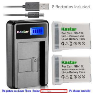 Replacement Battery LCD USB Charger for  Canon NB-13L CB-2LH and Canon PowerShot G5 X
