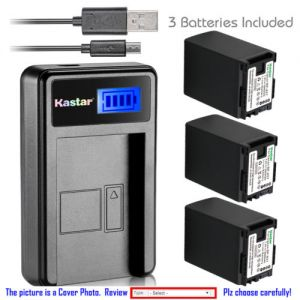 Replacement Battery LCD Charger for Canon BP-827 and Canon VIXIA HF M300,VIXIA HF M301