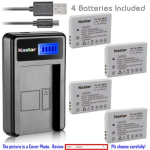 Replacement Battery LCD Charger for Canon NB-5L NB-5LH and Canon Digital IXUS 870 IS