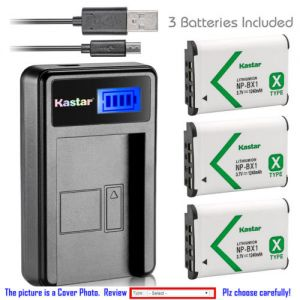 Replacement Battery LCD Charger for Sony NP-BX1 and Sony Cyber-shot DSC-RX100 Camera