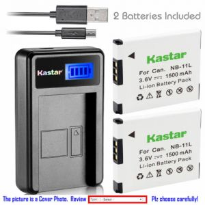 Replacement Battery LCD Charger for Canon NB-11L NB-11LH and Canon A2300 Canon A2400 IS