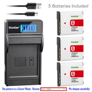 Replacement Battery LCD Charger for Sony NP-BG1 NPBG1 Sony Cyber-shot DSC-W100 Camera