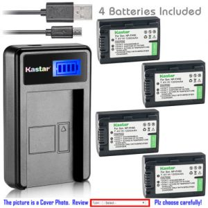 Replacement Battery LCD Charger for Sony NP-FH50 and DCR-DVD504 DCR-DVD505 DCR-DVD506