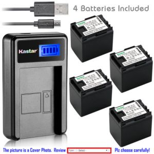 Replacement Battery LCD Charger for Canon BP-819 and Canon FS400, Canon HF G10 HF G20