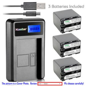 Replacement Battery LCD Charger for Sony NP-QM91D and Sony Cyber-shot DSC-F707 DSC-F717