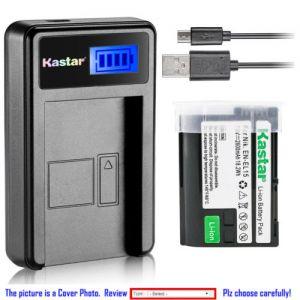 Replacement Battery LCD Charger for Nikon EN-EL15 and Nikon 1 V1 Nikon D500 Nikon D600