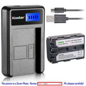Replacement Battery LCD Charger for Sony NP-FM50 and Sony MVC-CD350 MVC-CD400 MVC-CD500
