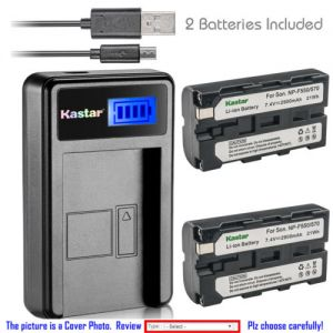 Replacement Battery LCD Charger for NP-F570 and Sony GV-A700 GV-D200 GV-D300 GV-D700