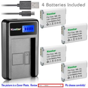 Replacement Battery LCD Charger for Canon NB-12L and Canon VIXIA mini X (LEGRIA mini X)