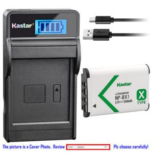 Replacement Battery LCD USB Charger for Sony NP-BX1 BC-CSXB and Sony HDR-AS15 Camera