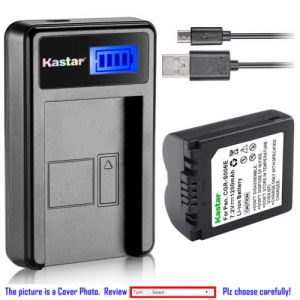 Replacement Battery LCD Charger for Panasonic CGA-S006 and Panasonic Lumix DMC-FZ7EFK