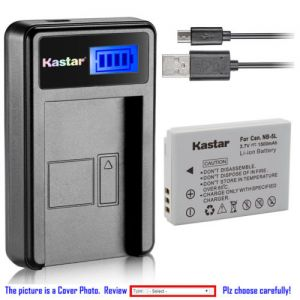 Replacement Battery LCD Charger for Canon NB-5L NB-5LH and Canon Digital IXUS 960 IS