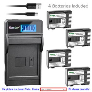 Replacement Battery LCD Charger for Canon NB-2L CB-2LW Canon FVM100 FVM200 iVIS HG10