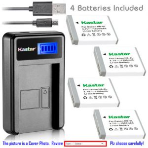 Replacement Battery LCD USB Charger for Canon NB-6L NB-6LH and Canon PowerShot SX540 HS