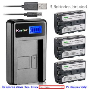Replacement Battery LCD Charger for Sony NP-FM50 and Sony DCR-PC101 DCR-PC103 DCR-PC104
