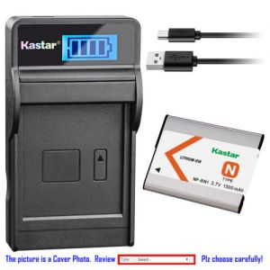 Replacement Battery LCD USB Charger for Sony NP-BN1 BC-CSN and Sony Cyber-shot DSC-W330