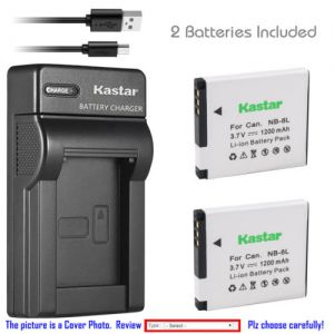 Replacement Battery Slim USB Charger for Canon NB-8L CB-2LA Canon PowerShot A3000 IS