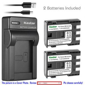 Replacement Battery Slim Charger for Canon NB-2L CB-2LW and Canon MVX30i MVX35i MVX40
