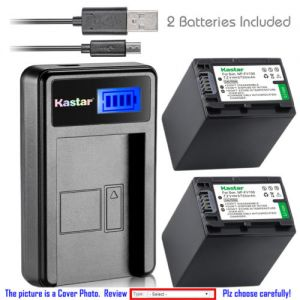 Replacement Battery LCD Charger for Sony NP-FH100 and Sony DCR-SR90 DCR-SX30 DCR-SX31