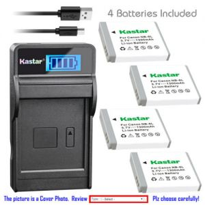 Replacement Battery LCD Charger for Canon NB-6L NB-6LH CB-2LY and Canon PowerShot S90