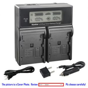 Replacement Battery LCD Dual Fast Charger for Canon BP-911 and Canon UCV10Hi, UCV20