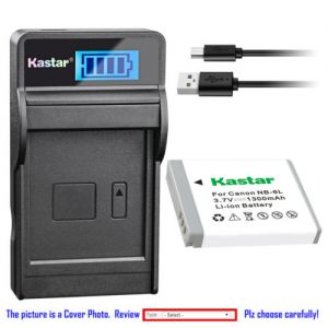 Replacement Battery LCD Charger for Canon NB-6L NB6LH CB-2LY and Canon Digital IXUS 210