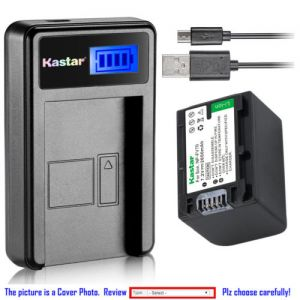 Replacement Battery LCD Charger for Sony NP-FH70 and Sony HDR-CX105 HDR-CX106 HDR-CX11