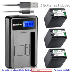 Replacement Battery LCD Charger for Sony NP-FV100 and Sony DCR-SR58 DCR-SR68 DCR-SR73
