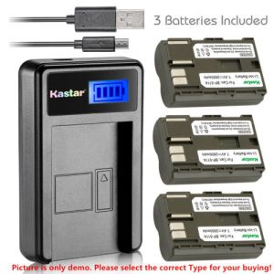 Replacement Battery LCD USB Charger for Canon BP-511 BP-511A and MVX3i MVXli MV30 MV30i