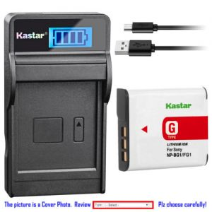 Replacement Battery LCD Charger for Sony NP-BG1 NPBG1 Sony Cyber-shot DSC-HX9V Camera