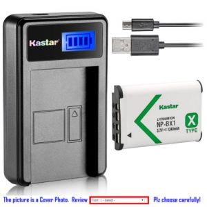 Replacement Battery LCD USB Charger for Sony NP-BX1 and Sony Cyber-shot DSC-HX80 Camera