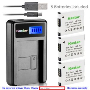 Replacement Battery LCD Charger for Canon NB-11L NB-11LH and Canon A2500 Canon A2600