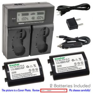 Replacement Battery LCD Dual Fast Charger for Nikon EN-EL4 MH-21 MH22 Nikon Camera D2