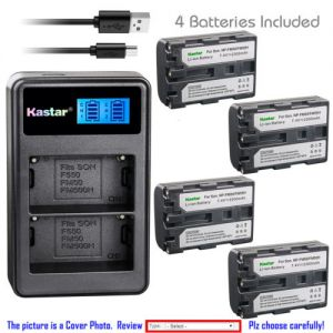 Replacement Battery LCD Dual Charger for Sony NP-FM50 and Sony DCR-TRV265 DCR-TRV300